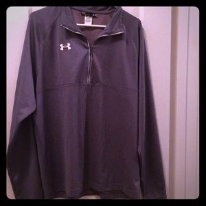 🆕 Men's gray long sleeve Under Armour pullover